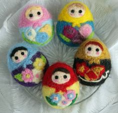 Needle Felted Matryoshka Nesting Dolls
