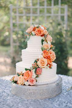 Spectacular Buttercream Wedding Cakes ❤ See more: http://www.weddingforward.com/buttercream-wedding-cakes/ #weddings