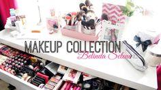 Makeup Collection 2014 by Belinda Selene.  Great video!  Wonderful affordable set-up!