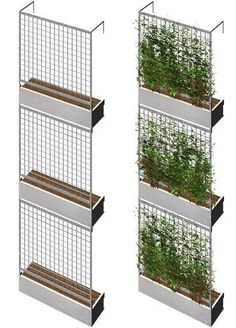 vertical garden balcony Design and construction of a vertical garden In natu. - vertical garden balcony Design and construction of a vertical garden In nature, so-called verti - Green Facade, Brick Facade, Facade House, Balcony Design, Garden Design, Walled Garden, Green Architecture, Residential Architecture, Landscape Walls