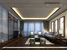 Modern Home Interiors Ceiling Design Living Room, Living Room Designs, Living Room Decor, Living Rooms, Lobby Interior, Interior Design, Living Comedor, Luxury Living, Modern Living