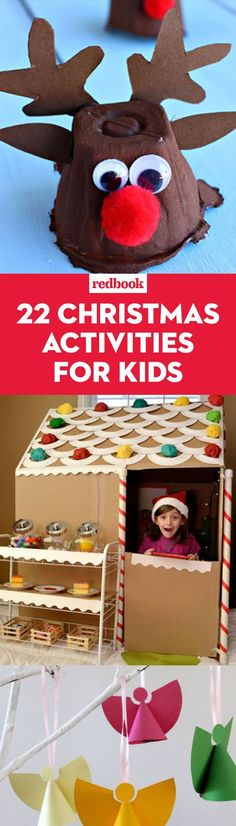 30 Fun Christmas Activities for Kids (That You'll Get a Kick Out of, Too) Pin It for Later Kindergarten Christmas Crafts, Christmas Activities For Toddlers, Fall Preschool Activities, Christmas Decorations For Kids, Creative Activities For Kids, Crafts For Kids, Toddler Christmas, All Things Christmas, Kids Christmas
