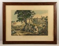 """CURRIER, """"AMERICAN COUNTRY LIFE - OCTOBER AFTERNOON,"""" PRINT Unreserved Estate Auction 