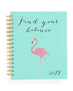 Eccolo 2017 Flamingo Balance Agenda Weekly Planner