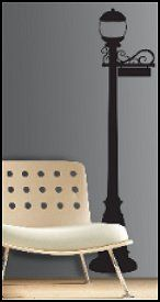 Bring home a little big city charm with this stylish lamp post silhouette. Standing a full six feet tall, this giant wall decal makes an eyecatching addition for your dining area, living room, dorm room, or wherever else you may please. Because RoomMates are completely removable and repositionable, you can take your time assembling the design wherever you please, and move pieces around as necessary. For more city-inspired decor, try our elegant Cityscape wall sticker.