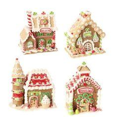 "RAZ Imports 5.5"" Gingerbread House (Set of 4)"