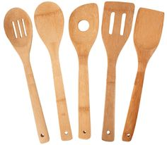 Amazon.com: Totally Bamboo 5-Piece Utensil Set: Kitchen Tool Sets: Home & Kitchen