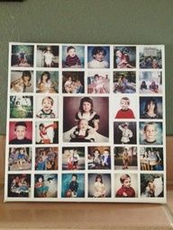 For my moms birthday, I made her a canvas collage of pictures of my brother and I when we were much younger. She LOVED it, and the supplies were totally cheap! Check it out if you know someone who would LOVE an original photo gift :). Love this idea for a gallery wall.