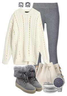 """""""Oversized Sweater"""" by tlb0318 ❤ liked on Polyvore featuring ATM by Anthony Thomas Melillo, Alexander Wang, Sophie Hulme, WithChic, David Yurman, Skagen and Bottega Veneta"""