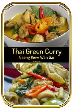 If you fancy Thai Green Curry with Chicken then this is the recipe for you. Easy to make, tastes supreme, authentically Thai. Try Geang Kiew Wan Gai today! Authentic Thai Green Curry, Easy Thai Green Curry, Thai Green Curry Recipes, Green Curry Chicken, Soup Appetizers, Appetizer Recipes, Brunch Recipes, Dinner Recipes, Low Fat Chicken Recipes