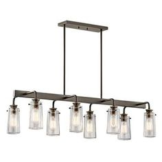 Check out the Kichler Lighting 43457OZ Braelyn 8 Light Linear Chandelier in Olde Bronze priced at $598.00 at Homeclick.com.