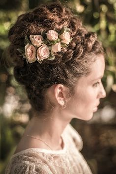Magical Garden Styled Shoot with a braided crown and rosebud hair decor | Hatunot Blog