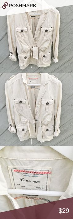 Spring jacket Anthropologie Cartonnier like new light jacket. Perfect for this season. Size 4 good for S Anthropologie Jackets & Coats