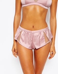 ASOS+Blossom+Satin+&+Tulle+French+Knicker