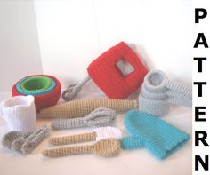 Baking Utensils Crochet Pattern - finished items made from pattern may be sold. $8.00, via Etsy.