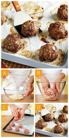 Réaliser des #boulettes de viande parfaite en 4 étapes simples!