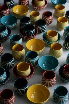 Kezemura handmade ceramics wheelthrown mugs