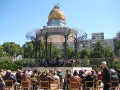 Quiosco de la música de Zaragoza, España.