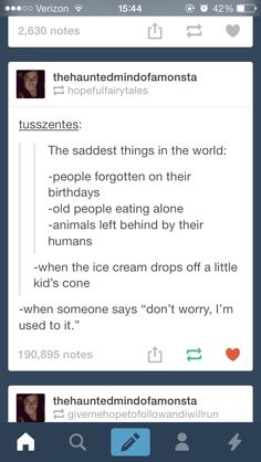 Saddest things in the world