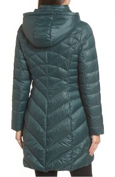Main Image - Halogen® Hooded Down Puffer Jacket