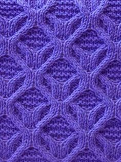 Cable Knit Stitch Free Knitting Patterns​ http://knitchart.com/item/cable-knit-stitch-pattern-44.html