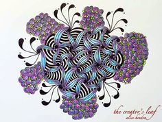 blue swirl, Alice Hendon, The Creator's Leaf, www.thecreatorsleaf.com