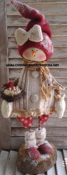 Craft Pattern - Primitive Christmas Snow Girl Sara E-Pattern - Primitive Christmas Snow People Pattern - Primitive Snow Girl Pattern Primitive Christmas, Christmas Sewing, Primitive Crafts, Christmas Snowman, Winter Christmas, Christmas Holidays, Christmas Decorations, Christmas Ornaments, Snowman Crafts