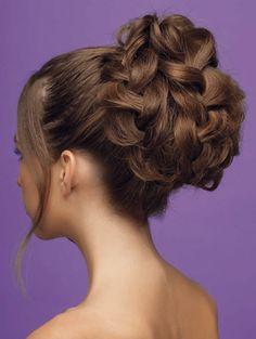Bun from braids Elegant Hairstyles, Formal Hairstyles, Up Hairstyles, Braided Hairstyles, Wedding Hairstyles, Wedding Hair Tips, Wedding Bun, Brilliant Braid, Funky Braids