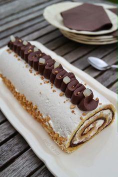 Gâteau roulé poire chocolat à la chantilly au mascarpone Plus