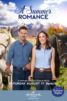 """Its a Wonderful Movie - Your Guide to Family and Christmas Movies on TV: A Summer Romance - a Hallmark Channel """"Summer Nights"""" Movie starring Erin Krakow, Ryan Paevey and more. Hallmark Channel, Films Hallmark, Hallmark Romantic Movies, Family Christmas Movies, Hallmark Christmas Movies, Family Movies, Castle Tv, Castle Beckett, Brad Paisley"""