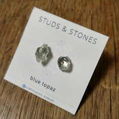 Your place to buy and sell all things handmade Topaz Earrings, Blue Earrings, Stone Earrings, Sensitive People, Highly Sensitive, Blue Crystals, Crystals And Gemstones, Healing Crystal Jewelry, Crystal Meanings