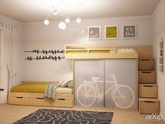 Детская для мальчишек: интерьер, квартира, дом, скандинавский, детская комната, 10 - 20 м2 #interiordesign #apartment #house #scandinavian #nursery #10_20m2 arXip.com