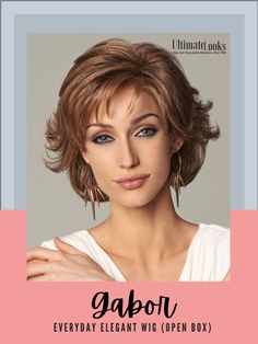 Everyday Elegant Wig by Gabor... Softly waved layers with sides that sweep back bring a touch of glamour to this shag and to any activity, any day. #hairstyles #hairdo #hairoftheday #styleinspo