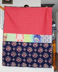 The back of MaKenna's quilt- I used all 26 fabrics from the Amy Butler Love line.
