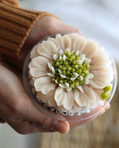 Korean flower cake