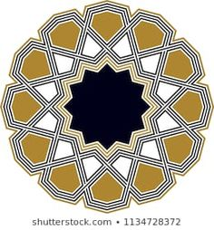 Ottoman Tile & Tezhip motifs are very similar to each other. Sacred geometry, star mandala, vector illustration. Ten sided geometric. It can be used as wall decoration, banner, motif, gift card, icon Islamic Art Pattern, Pattern Art, Pattern Design, Middle Eastern Art, Arabesque, String Art, Sacred Geometry, Traditional Design, Damask