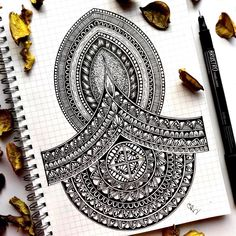 There's a way that you can throw negativity out there that seems rebellious. But I've always taken pleasure in a different kind of… Mandala Art Therapy, Zen Doodle, Mandala Tattoo, Zentangle, Doodles, Graphic Design, Photo And Video, Drawings, Pattern