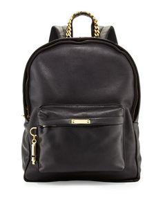 V21J6 Sophie Hulme Calfskin Leather Rucksack, Black