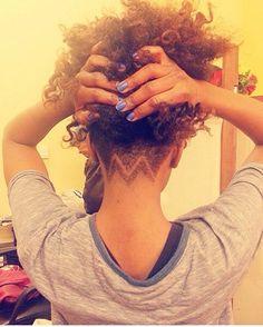 Natural hair. Undercut.