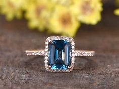 BBBGEM offers london blue topaz engagement ring,see our blue topaz birthstone ring in round,oval,cushion,princess,emerald cut,pear and marquise shape.