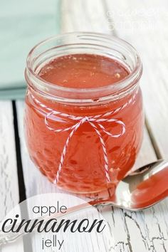 Apple Cinnamon Jelly so much better than store bought jelly.