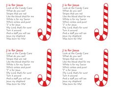 J is for Jesus - Candy Cane Christmas Gift for students? You can even tape a candy cane to the cards.