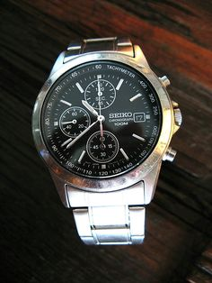 A Vintage Seiko Stainless Steel Daytona styled chronograph by IronCrowVintage, McQueen cool...