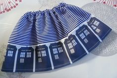 Baby  Dr Who Clothes, Geek Baby Clothes, Tadis Skirt, Quirky Baby Clothes, Geek Toddler, ROOBYS. £15.00, via Etsy.