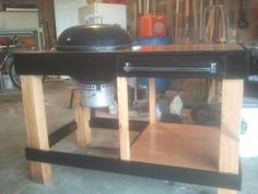 Grill Table - Weber Kettle  | Weber grill station - by mcwillystylez @ LumberJocks.com ~ woodworking ...
