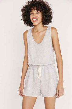 MICHELLE By COMUNE Sweatshirt Romper - Urban Outfitters