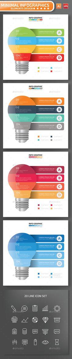 Minimal Lightbulb infographic Design - Infographics