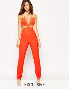 769efe14967 NaaNaa Cut Out Plunge Tailored Jumpsuit Tailored Jumpsuit