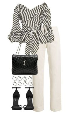 A fashion look from June 2017 featuring white shirt, high waisted jeans and black sandals. Browse and shop related looks. Lila Outfits, Classy Outfits, Stylish Outfits, Cute Outfits, Work Outfits, How To Have Style, My Style, Curvy Style, Complete Outfits