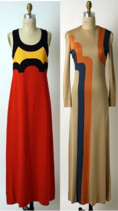 evening dresses by John Kloss (1967)